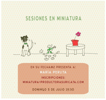 Afiche DOMINGO 5 DE JULIO MARIA PERLITA